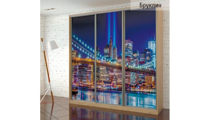 Шкаф-купе «Бруклин» с фотопечатью