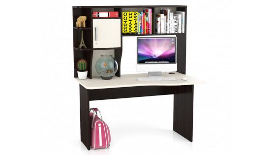 Стол компьютерный с надстройкой Лидер 5 (венге/дуб)