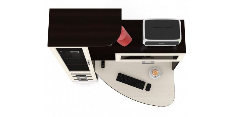 Стол угловой компьютерный С-Бонус-2 (венге/дуб)