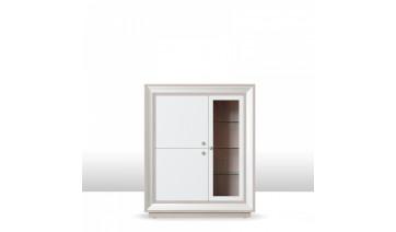 шкаф 3-х дверный (1 стеклодверь) 1179 низкий