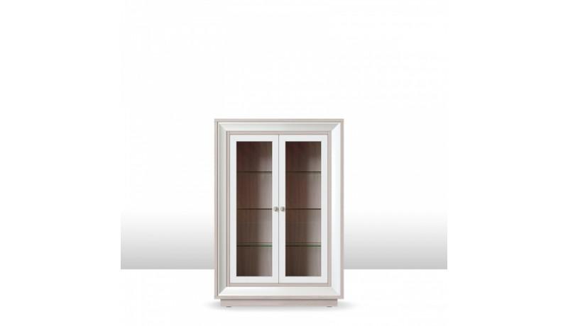 шкаф 2-х дверный (2 стеклодвери) 998 низкий