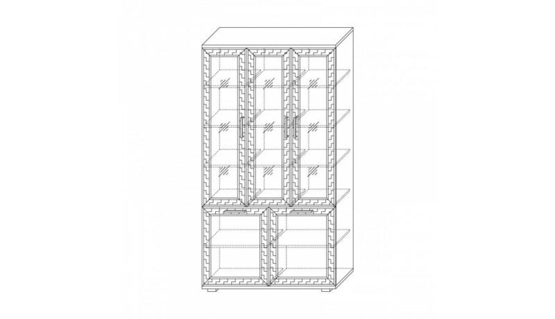 шкаф со стеклом 1200