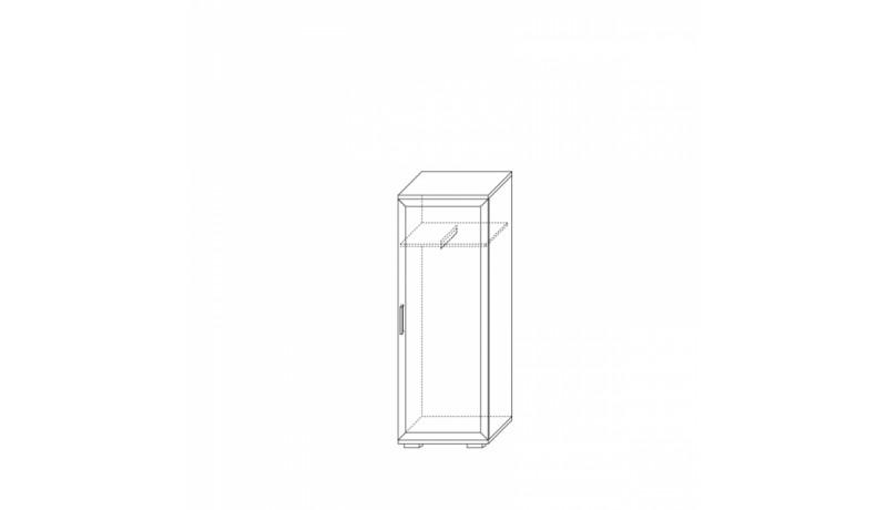 шкаф для одежды низкий