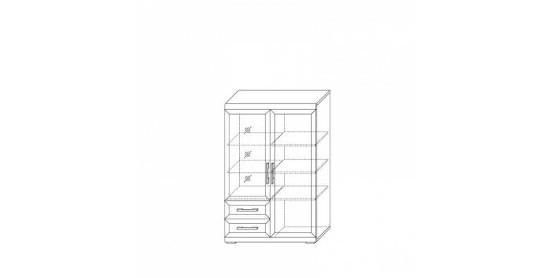 шкаф низкий 1000