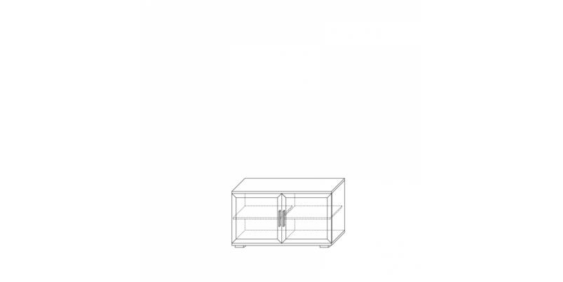 тумба для аппаратуры высокая 1200 (2 двери)