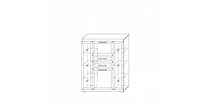 шкаф низкий 1200