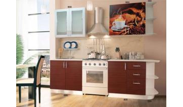 Кухня «Кофе» без этажерок