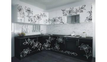 Кухня «Чёрное и белое»