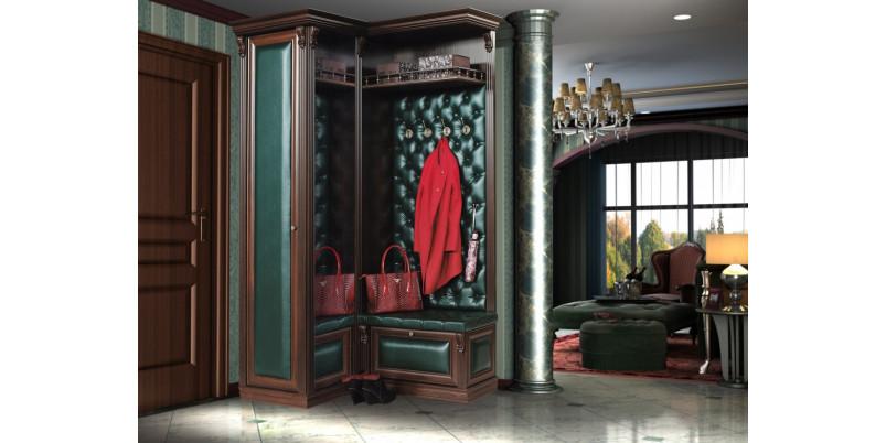 Прихожая «Благо» угловая с зеркалом и шкафом Б5.8-6