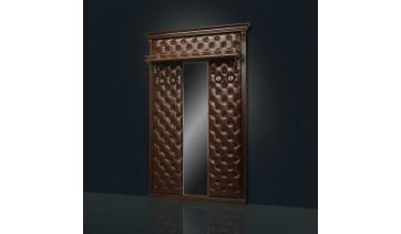 Вешалка «Благо» с узким зеркалом с полкой Б5.10-4