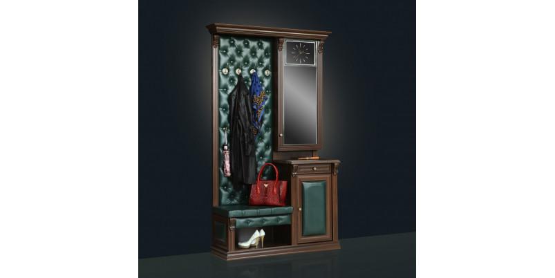 Вешалка «Благо» с тумбой и зеркалом открытым