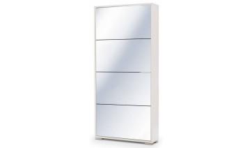 Обувница Viva-4S (белый/зеркало)