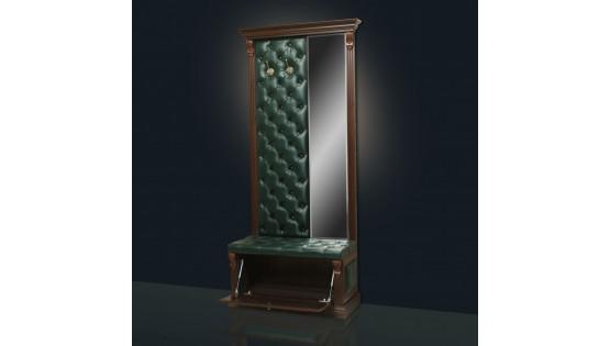 Вешалка «Благо» с обувницей и узким зеркалом Б5.8-4