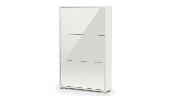 Обувница Viva-3LW (белый/белое стекло)