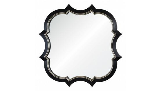Зеркало Krystal черное с серебряной рамкой