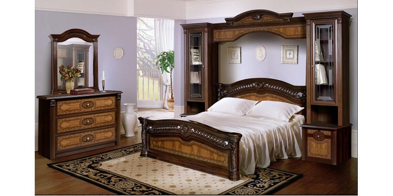 Кровать 2-х спальная (1,6 м) (1 спинка - шелкография) с подъемным механизмом