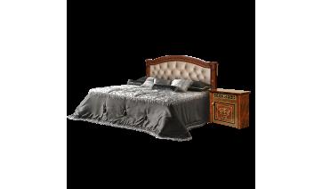 Кровать «Карина-3» (1,6 м) (1 спинка + мягкий элемент) с подъемным механизмом