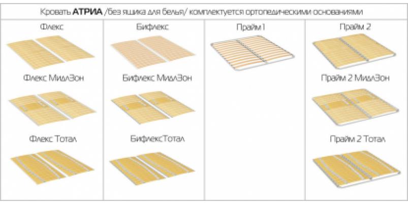 Кровать TORIS «Атриа Е» Серия Атриа Стино