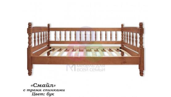 Детская кровать «Смайл с тремя спинками»