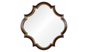 Зеркало Krystal коричневое с золотой рамкой