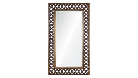 Зеркало Orlean темный орех с золотым напылением