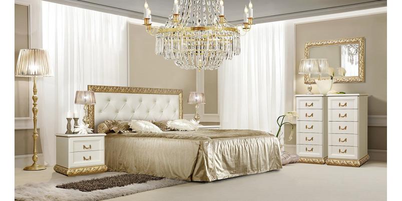 Кровать «Тиффани» (1,6 м) с мягким элементом со стразами