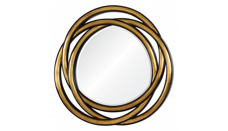 Зеркало Allure золото в черном обрамлении