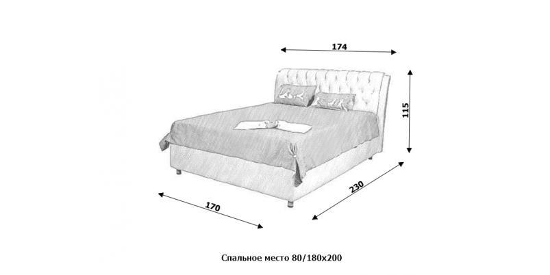 Кровать «Гламур»