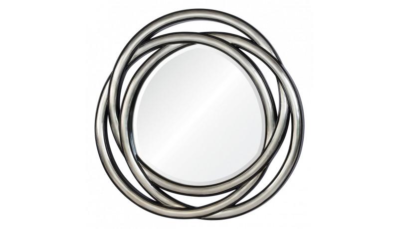 Зеркало Allure серебро с чёрным