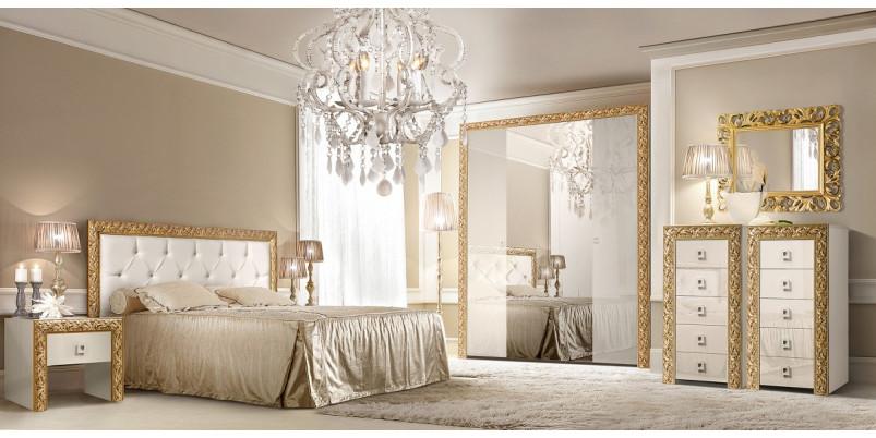 Кровать «Тиффани» (1,4 м) с мягким элементом со стразами с подъемным механизмом