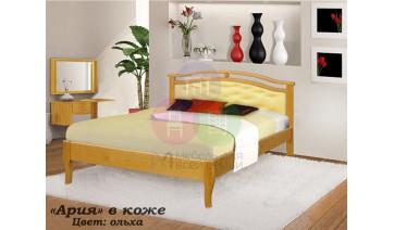 Кровать «Ария» в коже