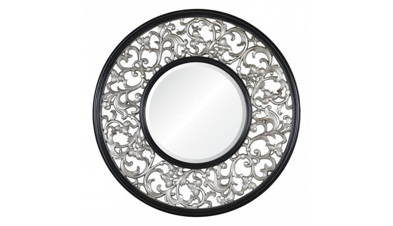 Зеркало Bergamo серебро с чёрным