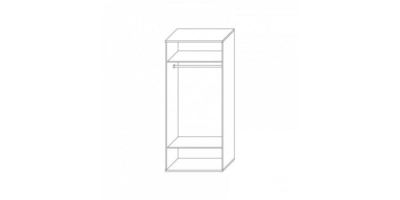 шкаф 2-х дверный (корпус)