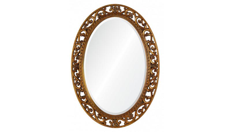Зеркало Rosalie античное золото