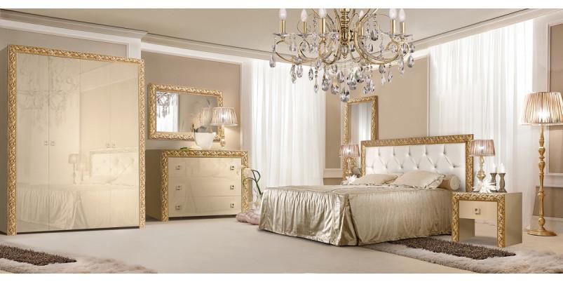 Кровать «Тиффани» (1,8 м) с мягким элементом со стразами