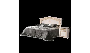 Кровать «Карина-3» (1,6 м) (1 спинка - шелкография) с подъемным механизмом