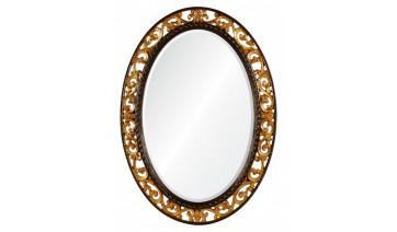 Зеркало Rosalie античное золото в коричневом обрамлении