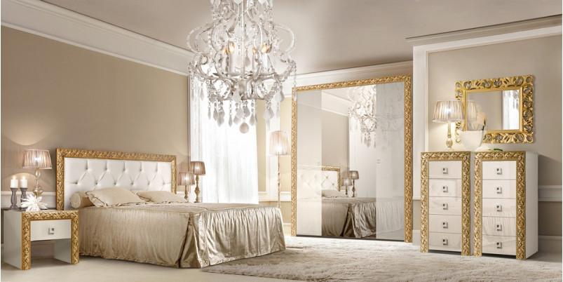 Кровать «Тиффани» (1,4 м) с мягким элементом со стразами