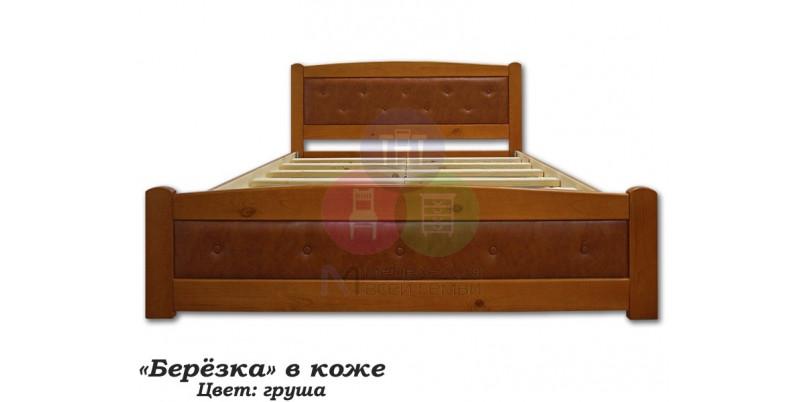 """Кровать """"Берёзка"""" в коже"""""""