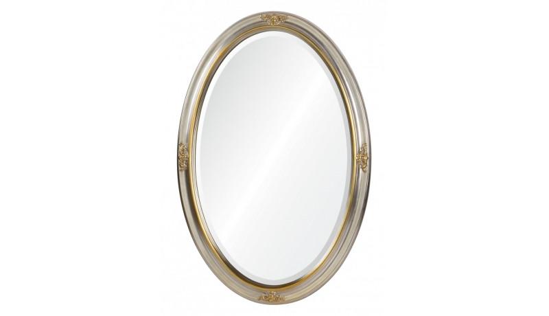 Зеркало серебро с золотым орнаментом