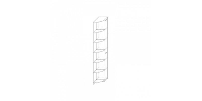 шкаф-стеллаж угловой правый