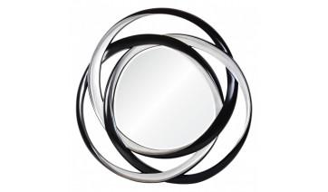 Зеркало Sinatra серебро с черным