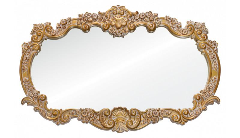 Зеркало Alexandria золото с белым напылением