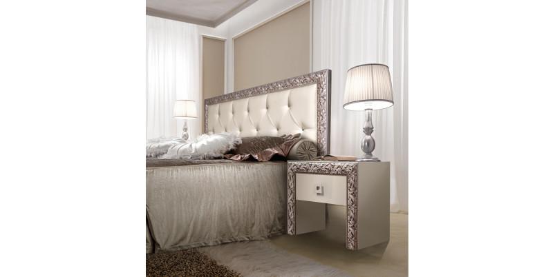 Кровать «Тиффани» (1,6 м) с мягким элементом со стразами с подъемным механизмом