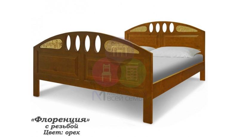 Кровать «Флоренция с резьбой»